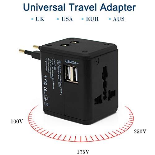 STHfficial Universal Reiseadapter Dual USB Ladebuchsen US UK AUS EU CN Stecker Schnellladeadapter Steckdosen