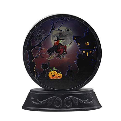 99native Halloween-Kürbis-Schläger-Muster-Nachtlicht-Szenen-Plan stützt Nachtdekoration LED Halloween Kürbis Lampe geführtes Kinderschlafzimmer Party Nachtlicht Dekoration Requisiten (A)