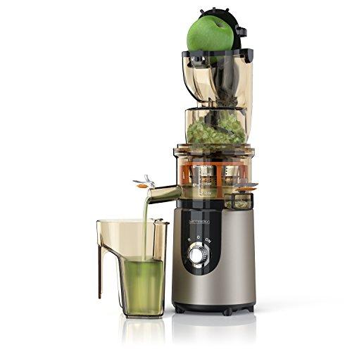 Arendo - Estrattore - Slow Juicer - Capacità totale 1L - Rapida produzione di succo con elevata resa - Accessori lavabili in lavastoviglie - Blocco di sicurezza integrato - BPA free - Certificato GS