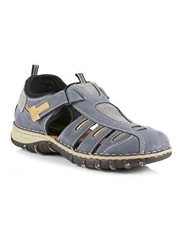 Walbusch Herren Klepper Trekking Sandalenschuh einfarbig Blau 44