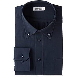 [アトリエサンロクゴ] ワイシャツ 長袖 形態安定 ビジネス カジュアル 制服 ユニフォーム メンズ y9-7-9-1 ネイビー-ボタンダウン 日本M(日本サイズM相当)