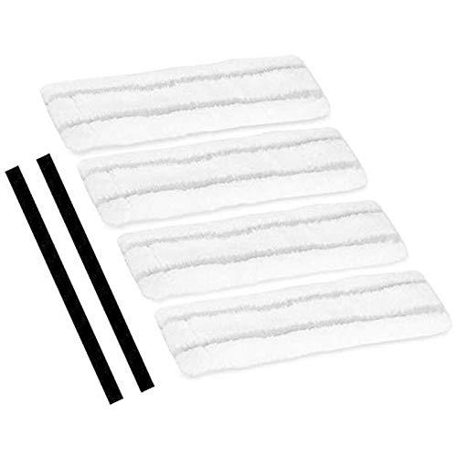Youmine Juego de Toallitas de Microfibra y Labios de Goma de Repuesto Escobillas y Limpiaparabrisas de Microfibra para Karcher WV1 Aspiradoras de Ventana