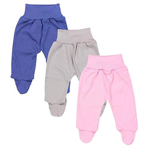 TupTam Baby Mädchen Strampelhose mit Fuß 3er Pack, Farbe: Farbenmix 6, Größe: 56