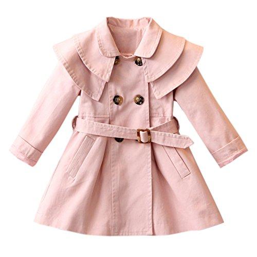 CHIC-CHIC Mädchen Mantel Jacke Prinzessin Trenchcoat Prinzessin Kinderjacken kleidung Outerwear Frühling Herbst Sweatjacke