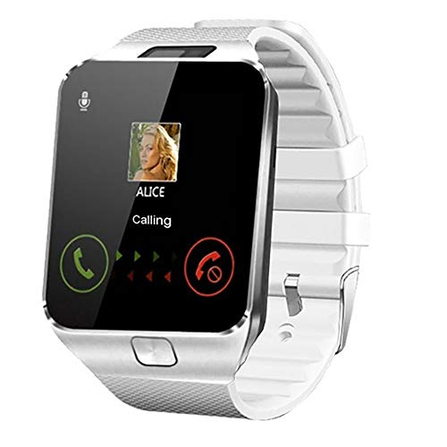 CHENC Kinder Smartwatch, Bluetooth Smart-Uhren Mit LBS-Tracker Und Die Kamera Mit MP3-Player 2-Wege-Telefon-Anruf Für Kinderferien Geburtstags-Geschenk,Weiß