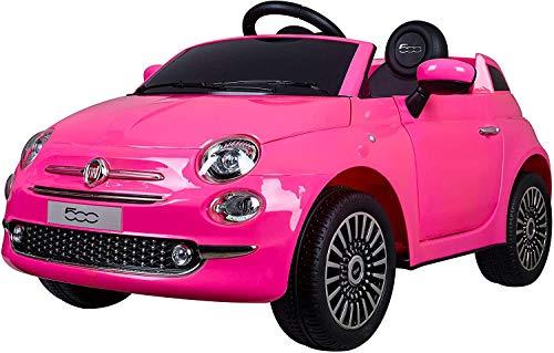 Mondial Toys Auto Macchina ELETTRICA per Bambini 12V 7AH Fiat 500 con Telecomando Pink