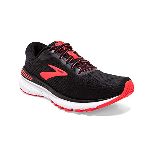 Brooks Damen Adrenaline GTS 20 Laufschuh, Black Coral White, 40 EU