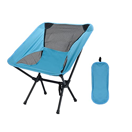 ZSBYREKA Portable Compact Folding Beach Chairs,Portable Compact for Outdoor Camp, Travel,Fishing, Beach, Picnic, Festival, Hiking.(Navy)