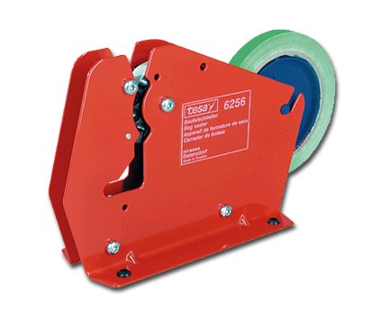 Tesa Abroller für Klebeband Beutelverschluss 12mm rot