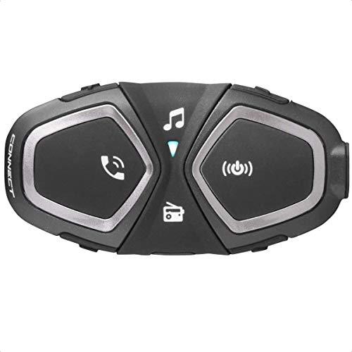 INTERPHONE Cellularline CONNECT | SINGOLO | Bluetooth per Comunicazione in Moto, Uso Pilota - Pilota, Distanza 300 Mt, Autonomia Fino a 12 Ore, Radio, Mp3, GPS, Impermeabile, Universale.