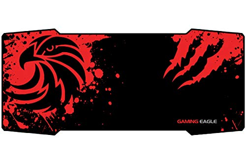 Large Gaming Mouse Pad (36×16 inch), Non-Slip Rubber Base, Stitched Edges, Professional High-Performance Extended Mousepad Mouse Mat, 2 Designs Available by GamingEagle - Eagle Design
