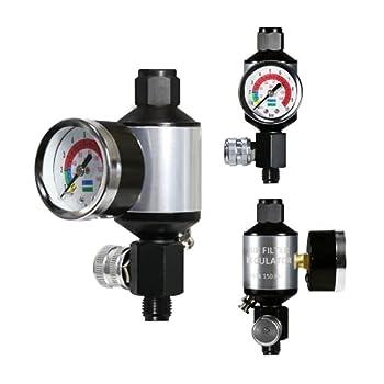 Le Lematec Compressed Air Filter Regulator Compressor Filter Oil Water Separator Regulator Combo with Gauge AI303-R1