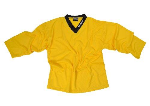 SHER-WOOD - Eishockey Trainingstrikot für Erwachsene I stilvolles Practice Jersey aus gelochtem, Gelb, Gr. XXXL