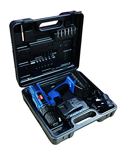 Hilka Tools PTLCD1802 18V Li-ion Cordless Drill/Driver with Two Batteries, 18 V