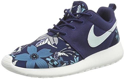 Nike Wmns Roshe One Print Prem, Scarpe da Ginnastica Donna, Blu (Blau (431 Midnight Navy/Fiberglass-Sail), 36.5 EU
