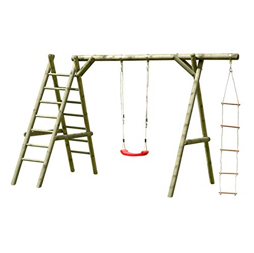 Schaukel aus Holz Classic 3.1 Schaukelgestell für Kinder im Garten, TÜV-geprüft