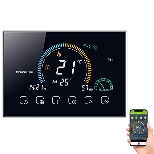 Termostato Inteligente WiFi Controlador, Termorregulador de calefacción de Caldera de Agua/Gas con...