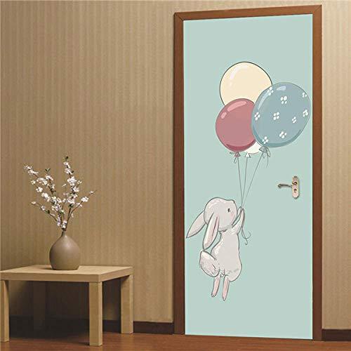 hmmsw 3D Adhesivos para Puertas Póster De Imagen para Niños Pegatinas De Puerta Imagen De Impresión De Dibujos Animados Niños Jardín De Infantes Dormitorio De Hotel Pintura de puerta-15-77X200Cm