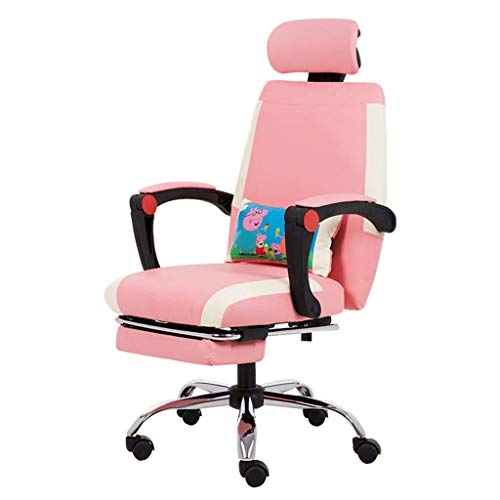 N/Z Daily Equipment Chairs Computer Chair Study Work Chair Living Room Stool Bedroom Makeup Chair Beautiful Chair Pink 64cm*64cm*114cm