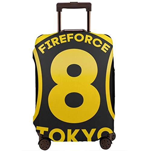 Fundas para Maletas Anime Fire Force Protector de Maleta de Viaje Funda de Maleta con Cremallera Cubierta de impresión de Moda Lavable por valija Protector de Maleta de Viaje