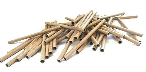 Lot de 10 manchons en carton - 4 x 6 x 120 mm - Marron - Enroulés parallèles - Tubes en carton - Manchons en papier - Écologiques - Non traités - Hôtel à insectes.