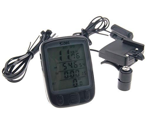 Ordenador para bicicleta, impermeable, pantalla LCD, velocímetro, cuentakilómetros, contador con luz de...