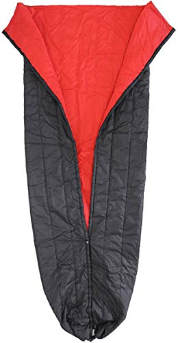 ENO Eagles Nest Outfitters - Spark TopQuilt, Ultralight Camping Quilt, Red/Charcoal