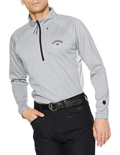 [キャロウェイ] [メンズ] 長袖 ハーフジップ ハイネックシャツ (ウエストボックス型) / 241-0233503 / ゴルフ ウェア 021_グレー 日本 M (日本サイズM相当)