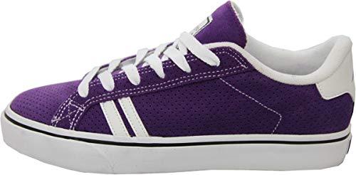Emerica Skateboard Schuhe Leo SMU Purple - Sneaker Sneakers Skateboard Shoes Lila Weiß, Schuhgrösse:41