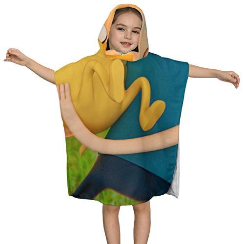 IUBBKI Adventure Time Enfants Serviette de bain à Capuche de qualité supérieure Doux Ultra Plage Wrap Poncho Cape Maillot de bain couvrir Pour Piscine de Plage