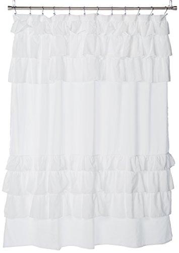 Madison Park Grace Duschvorhänge für Badezimmer, 183 x 183 cm, 183 x 183 cm, Weiß