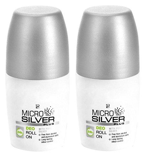 LR, Microsilver Plus, deodorante roll-on (2 x 50 ml, etichetta in lingua italiana non garantita)