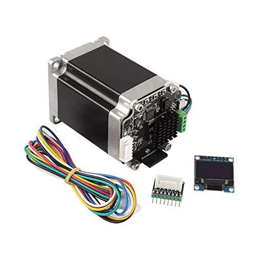 JFCUICAN 3D Accessoires imprimantes Boucle fermée 57 Stepper Motor Set Servomoteur avec Adaptateur mère + OLED12864 Accessoires for Display imprimante 3D de l'imprimante 3D
