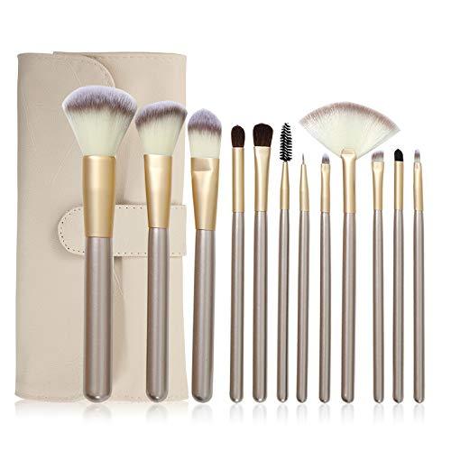N/A Lot de 12 pinceaux de maquillage pour cheveux persans Beige