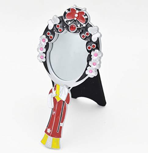 Miroir De Poche, Masque D'opéra De Pékin, Miroir De Beauté National, Quatre Beaux Cadeaux De Miroir De Concubine De Beauté, 15,5 Cm * 8 Cm,D