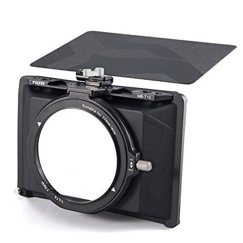 Tilta MB-T15 Tiltaing 4 * 5.65 Mini Matte Box Caja Mate para DSLR mirrorless Style Cameras Tilta Lens Hood Accessories Lens Ring 82mm 72mm 77mm 67mm Top Flag