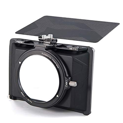 Tilta MB-T15 Mini Matte Box für spiegellose DSLR-Kameras Tilta Gegenlichtblendenzubehör Objektivring 67mm 72mm 77mm 82mm mit oberer Flagge