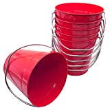 Italia 6-Pack Metal Bucket 1.5 Quart Color Red Size 5.6 X 6' 6-Pack