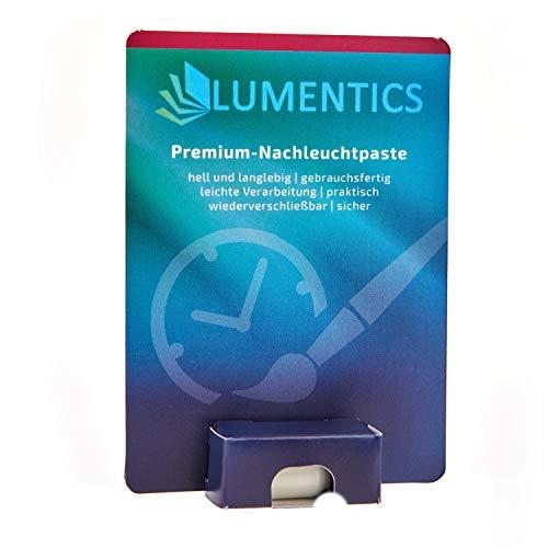 lumentics Leuchtpaste - Im Dunkeln phosphoreszierende Leuchtfarbe für z.B. Uhr-Zeiger. Feine, nachleuchtende UV Zeigerfarbe. Glow in The Dark. (Natur/Grün)