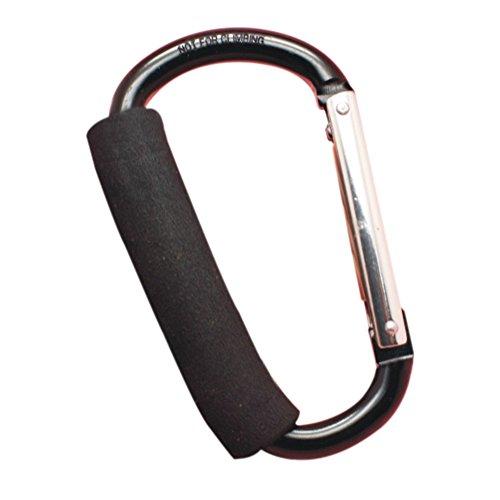 Demarkt 1 Pcs Boucle de Sac à Dos en Alliage d'aluminium Porte-clés Mousqueton Crochet Rapide pour Chaussures et Sac - Noir,14 * 8CM