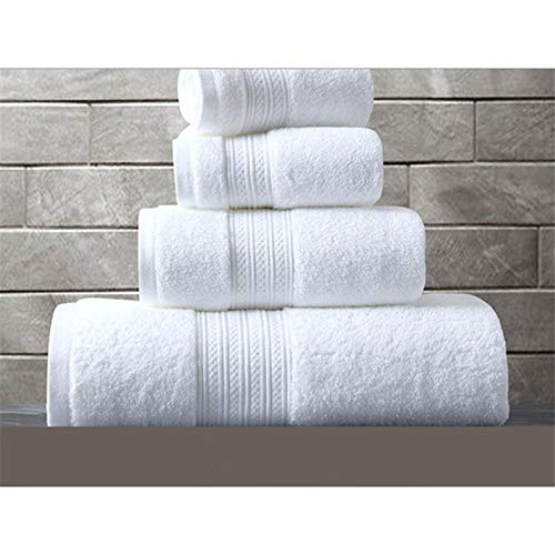 SFBBBO Toallas de baño Toalla de baño de algodón 100% Toalla de Cara de baño de Felpa súper Absorbente Toallas de baño Grandes y Gruesas para Adultos 40x70cm Blanco