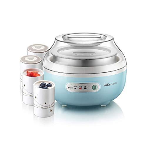 SCJ Haushaltsjoghurtmaschine, Bio-Joghurtmaschine DREI Gänge einstellbar, selbstgemachte Mini-Fermentationsmaschine, Multifunktions-Kinderjoghurtmaschine mit Keramikbecher und Edelstahlliner
