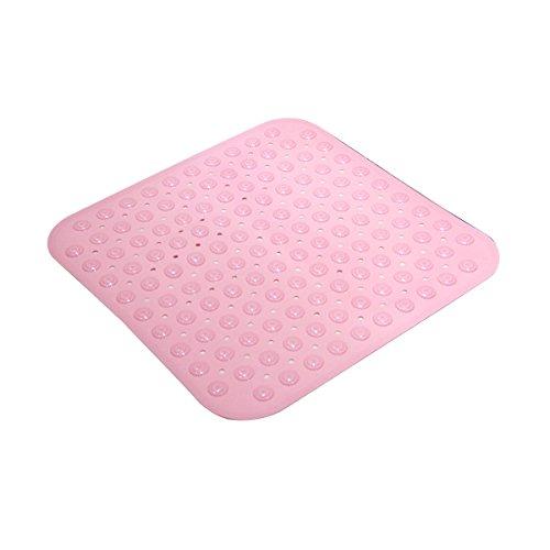 OUNONA Tapis de bain anti-dérapant Tapis de Douche de massage avec ventouses (rose)