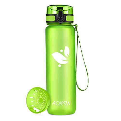 AORIN Trinkflasche - 350ml/500ml/750ml/1L,Wasserflasche BPA-Frei & Tritan Auslaufsicher Sportflasche,Erwachsene,Trinkflasche Kinder,Fitness,Laufen,Yoga,Fahrrad,Outdoor