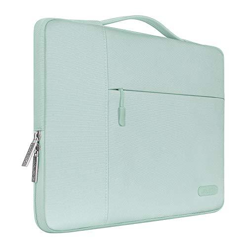 MOSISO Funda Blanda Compatible con MacBook Pro 16 Pulgadas/15 15.4 15.6 Pulgadas DELL Lenovo HP ASUS Acer Samsung Sony Chromebook, Poliéster Maletín Protectora Multifuncional Bolso, Menta Verde