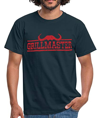 Grillmaster Barbecue Männer T-Shirt, XL, Navy