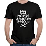 WillardSCox Men's Andrew Jackson Jihad Logo T Shirt Short Sleeve Classic Tops Tee,Black,Medium