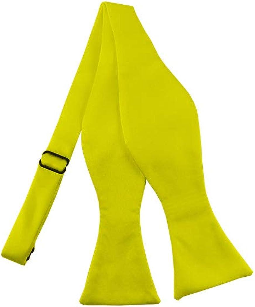 Solid Lemon Yellow Self-Tie Bow Tie