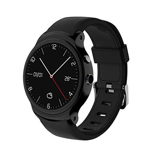 JURTEE ♥ I3 Smart Watch 1,5 Zoll MTK6580A Quad Core 1,3 GHz Android 5.1 3G Intelligente Armbanduhr 500mAh 2,0 Megapixel Kamera Armbanduhr für Android IOS (Schwarz)