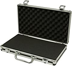 SRA Cases Aluminum Hard Case, Black, 13.6 x 8.1 x 2.6 Inches